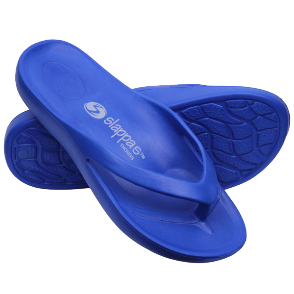 Blue Arch Support Thongs